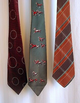 Vintage ties 1950s/60s Arrow & horses & plaid mid-century originals