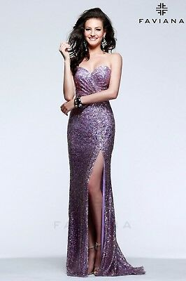 NWT Faviana Gown, Orchid Sequins, Size 10, GORGEOUS!!!