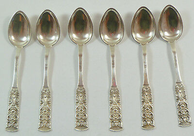 Set of (6) Magnus Aase 830S Silver Demitasse Spoons Bergen Norway