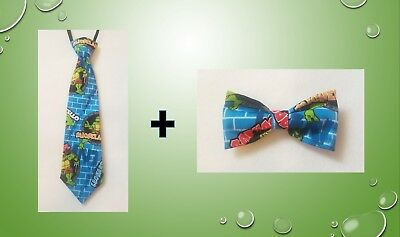 Teenage Mutant Ninja Turtles tie AND bow tie kids toddler baby FAST SHIPPING!