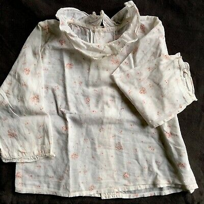 Blouse Baby Shirt With Ruffled Collar By Bonpoint 12m