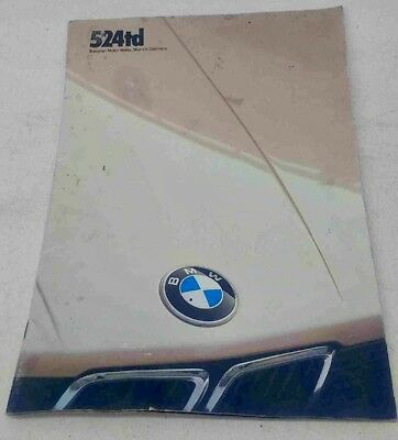 BMW e28 1985 524td Brochure 25 Pages Plus 5 Fold Out Pages FREE S/H!!