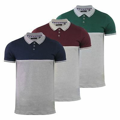 Brave Soul Lorenzo Mens Polo T Shirt Grindle Short Sleeve Collared Casual Top