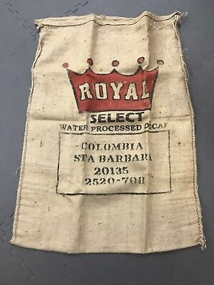 Burlap Coffee Bags. One From Columbia and One From Panama