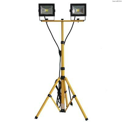Pinyuan 20W Twin-Head Adjustable LED Floodlight with Telescoping Tripod Stand