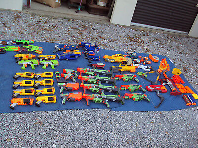 Huge Nerf Gun Lot Pistol Blaster Dart Accessories 50+ Items