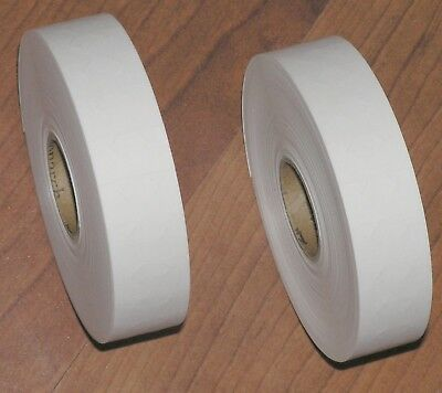 2 Rolls Genuine Paxar/Monarch 1131 Plain White Price Gun Labels