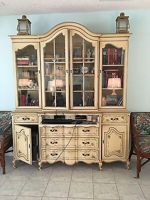 French Provincial Furniture China Cabinet and Sideboard