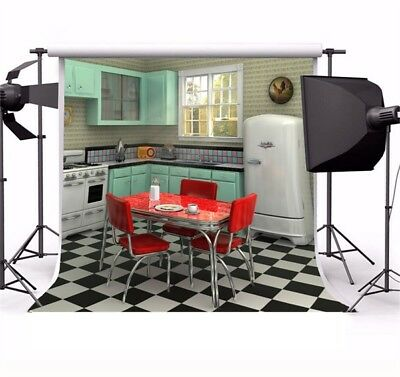 Seamless Kitchen Inner Scene 8x8ft Photo Backdrop Photography Backgrounds Prop