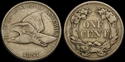 Flying Eagle Small Cent, 1857, Nice