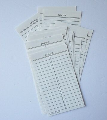 Library Card Due Date Slips w/ Adhesive Strip by Demco Book Plate Free Shipping