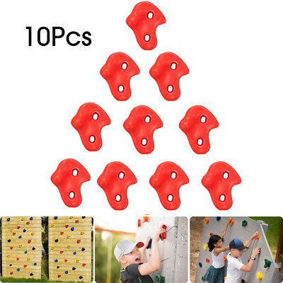 10x Textured Climbing Rock Wall Stones Holds Hand Feet Kids Gift Assorted Kit AU