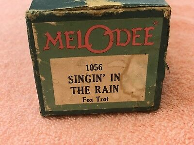 Melodee Player Piano Music Roll 1056 Singin' In the Rain Fox Trot Vintage