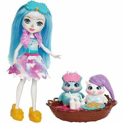 Enchantimals Sleepover Night Owl Dolls 2 Figure Owl Friends and Accessories Toy