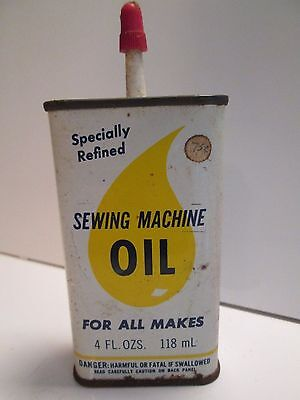 RARE VINTAGE Original Bega SEWING MACHINE OIL 4 oz Steel Can EMPTY FREE SHIPPING
