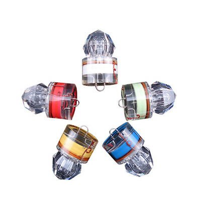 LED Deep Drop Underwater Diamond Flash Fishing Light Squid Strobe Bait Lure Pop