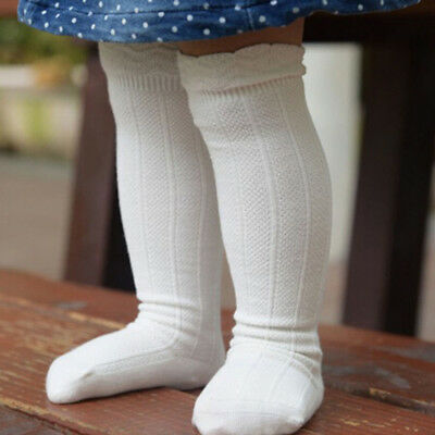 Baby Toddler Girls Cotton Knee High Socks Tights Leg Warmer Stockings For 0-3Y x