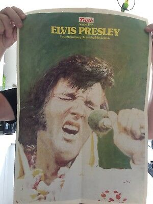 Original 1978 Truth Newspaper Elvis Presley Poster