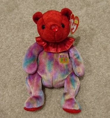 Beanie Babies ty Birthday Collection Ruby July Now Retired Mint Condition Baby
