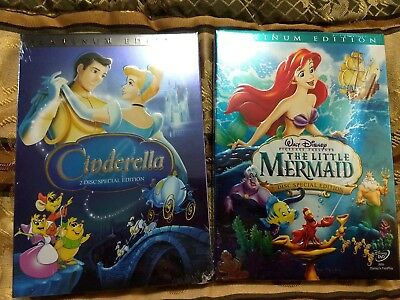 CINDERELLA(2005 )and LITTLE MERMAID(2006) DVDS Platinum Edition BRAND NEW 4-disc