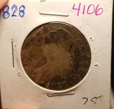 1828 Capped Bust Half Dollar 4106