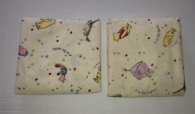 2 Classic Pooh Red Calliope Crib Sheets Oo
