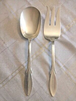 VTG WM Rogers Silver Plate Original Serving Fork and Spoon set
