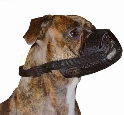 Pet Dog Adjustable Mask Anti Bark Bite Mesh Mouth Muzzle Grooming Chew Stop New