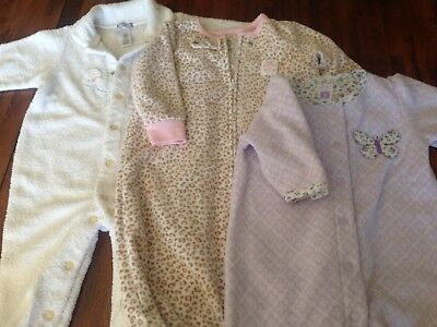 Baby girl winter clothes 6-9 months lot 3 Carter's Sleepwear Playsuit Jumpsuit