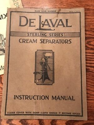 Early De Laval Cream Separators Instruction Manual 15 cent