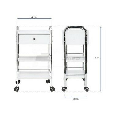 Wax Beauty Trolley Salon Spa Surgery Clinic Cart Storage Display 3 Tier 1 Drawer
