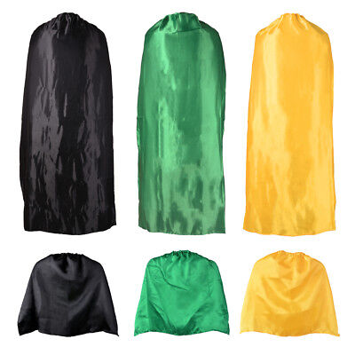 Adult Kid Cape Superhero Halloween Role Play Cosplay Costume Plain Colour Cloak
