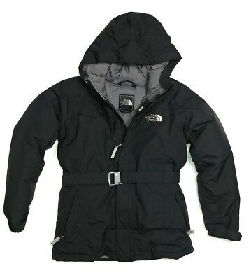 The North Face Hyvent Winter Jacket Girls L Large Black Insulated Warm