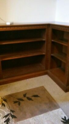 Ercol mural linked bookcases. bookcase display corner unit
