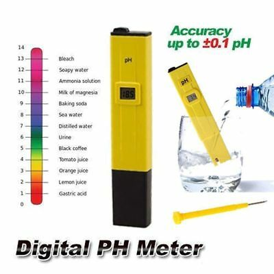 Digital PH Meter Tester Pocket Portable Pool Water Aquarium Hydroponic Wine EN