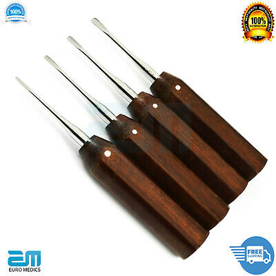 Set of 4 Dental Implant Oral Surgery Root Luxating Elevators Tooth Oral Surgical