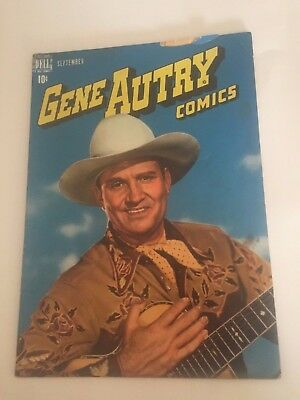 GENE AUTRY #19 Vintage Western Dell Comic Book 1948