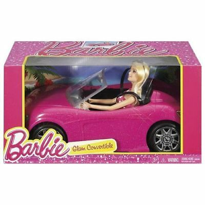 Barbie Car Glam Convertible Doll Vehicle Pink Girls Shine Sport 2 Seater New Hot
