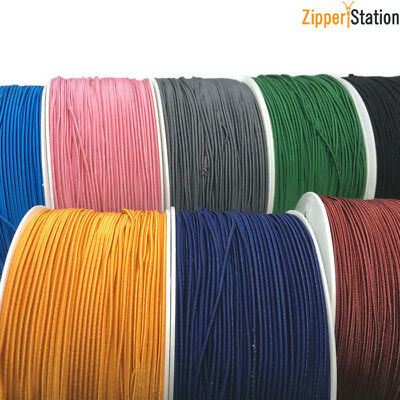 Rayon 1mm Round Elastic Cord - Quality cord for crafts, beading, masks