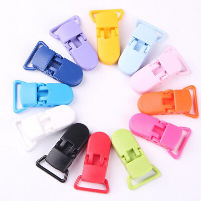 10Pcs Safety Baby Plastic Pacifier Clip Holder Soother Dummy Clips Chain Making