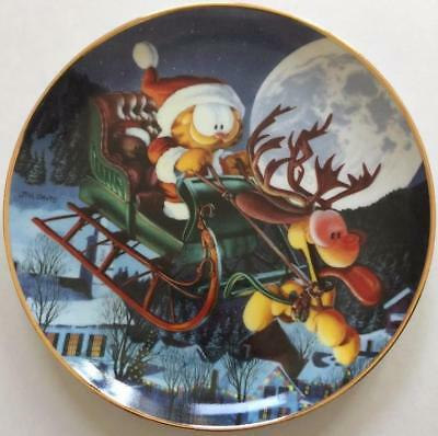 Garfield A One Dog Open Sleigh Danbury Mint Collector Plate Jim Davis