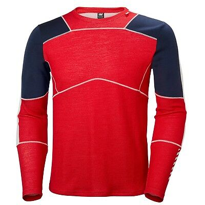 Helly Hansen Men's Lifa Merino Crew L/S Top - Flag Red