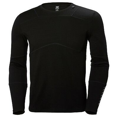 Helly Hansen Men's Lifa Merino Crew L/S Top - Black