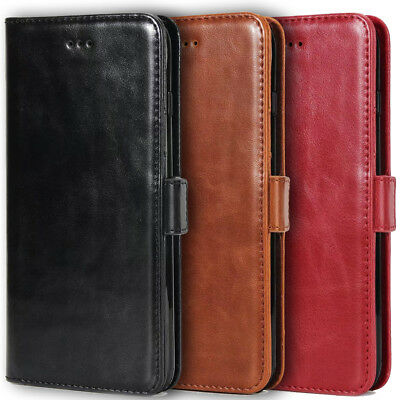 Luxury Leather Case Wallet Kickstand Cover IPhone 6 7  8 X Plus Samsung S8 Note8