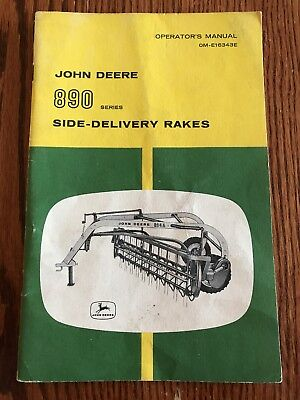 John Deere 890 Side Delivery Rake Operator's Manual