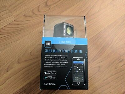 Used Once - LUME Cubes - Dual Pack Black 1500 Lumins