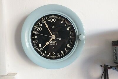 Seth Thomas Ww2 24 Hour Us Navy Clock Working