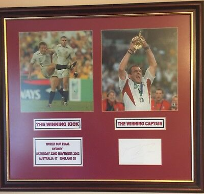 England Rugby Union World Cup 2003 Signed And Framed Rare