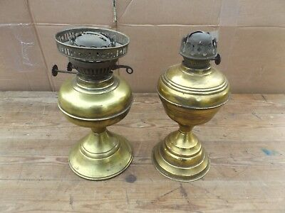 old vintage brass oil lamps qty 2