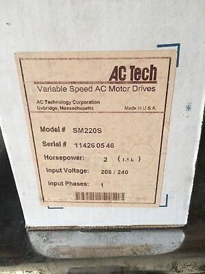 AC Tech SM220S 2HP Variable Frequency Drive SCM series
